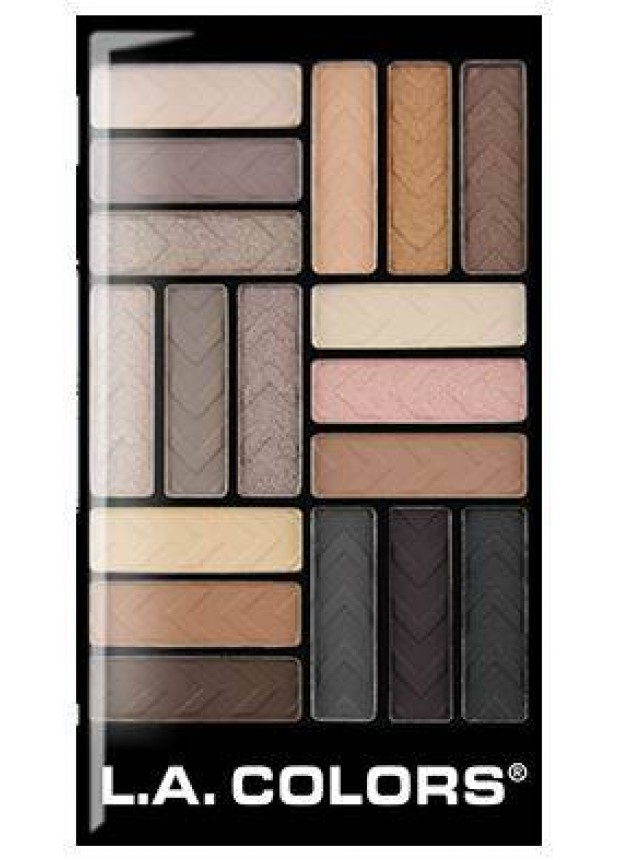 L.A.Colors 18 Color Gram Eyeshadow Palette-Downtown Brown палетка теней для глаз