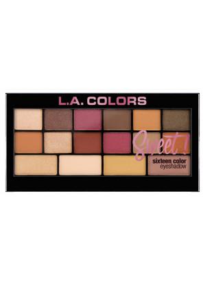 L.A.Colors Sweet 16 Color Eyeshadow Palette  палетка теней