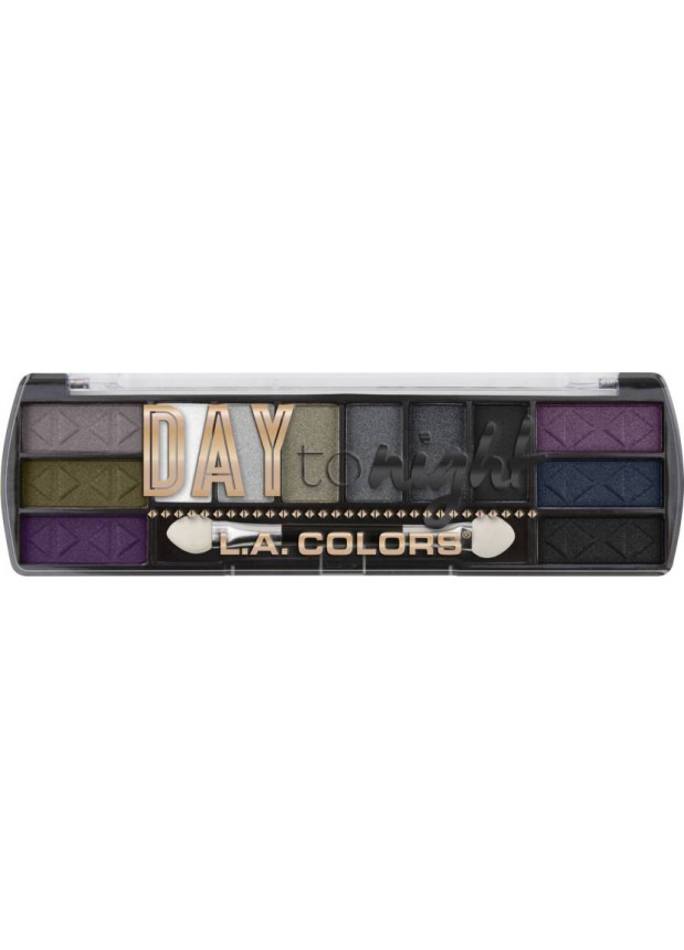 L.A.Colors Day To Night 12 Color Eyeshadow Nightfall тени для глаз
