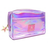 JEFFREE STAR HOLOGRAPHIC PINK MAKEUP BAG косметичка