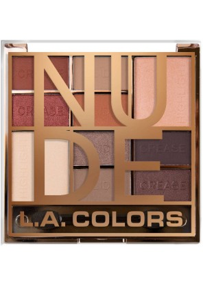 L.A.Colors  Block 10 Color Eyeshadow Palette NUDE Палетка теней