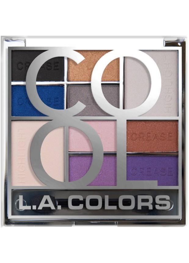 L.A.Colors Block 10 Color Eyeshadow Palette COOL Палетка теней