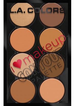 L.A.Colors I heart Makeup-Contour палетка для контуринга