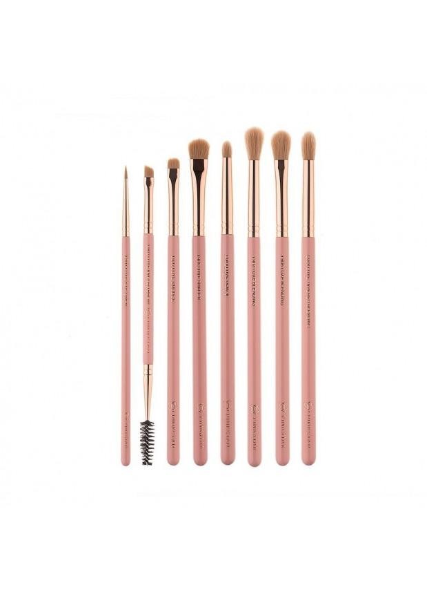 Pink Star Cosmetics Luxe Eye Brush Kit Rose Gold