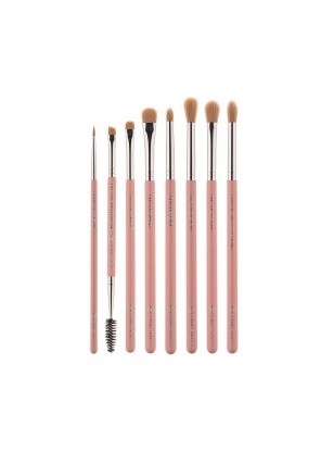 Pink Star Cosmetics Luxe Eye Brush Kit Silver