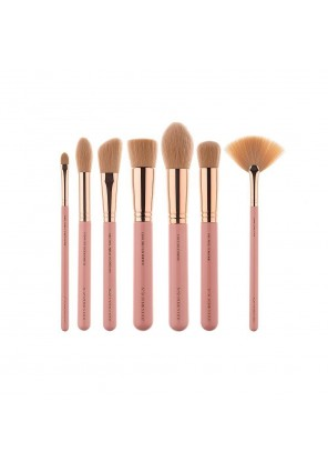 Pink Star Cosmetics Luxe Face Must Brush Set Rose Gold