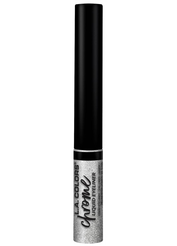 L.A.Colors Chrome Liquid Eyeliner-Foiled серебристая подводка для глаз