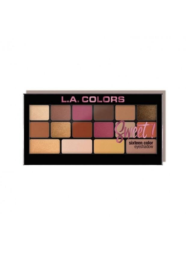 L.A. Colors Sweet! 16 Color Eyeshadow Palette Brave палетка теней