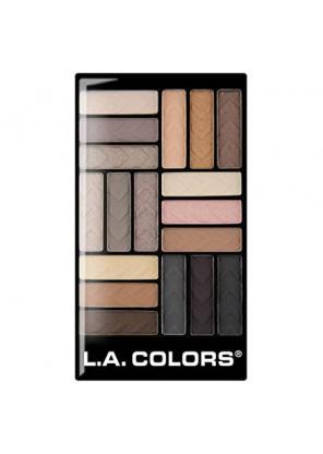 L.A. Colors 18 Color Gram Eyeshadow Palette-Downtown Brown палетка теней для глаз