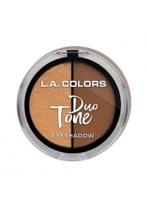 L.A. Colors Duo Tone Eyeshadow - Toasty тени для глаз тёплый оттенок
