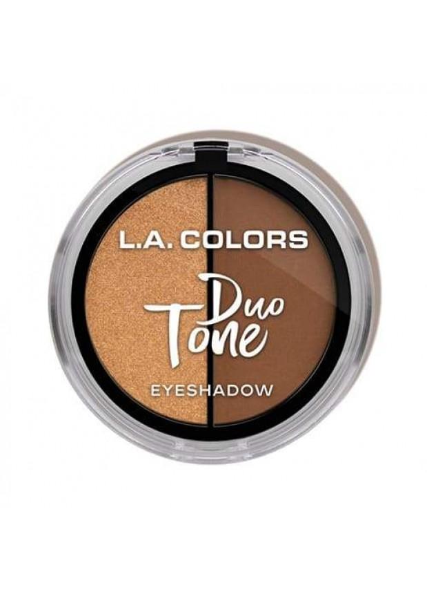 L.A Colors Duo Tone Eyeshadow - Toasty тени для глаз тёплый оттенок
