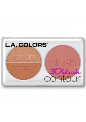 L.A.Colors 3D Blush Contour Sweetheart палетка  контуринг +рум'яна+ хайлайтер