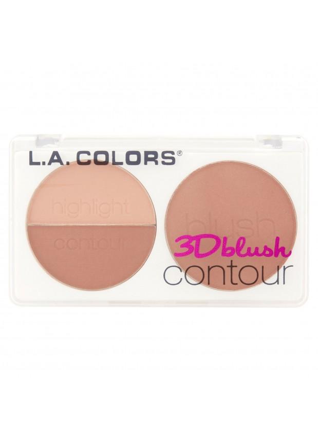L.A.Colors 3D Blush Contour Crush палетка для контуринга