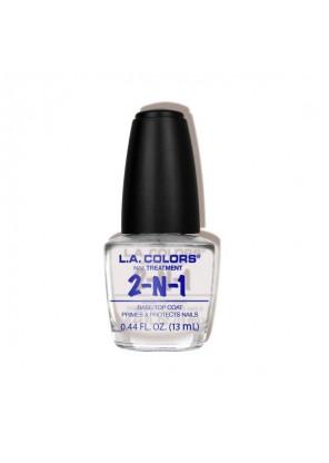 L.A Colors 2-1 Base Top Coat  покрытие для ногтей база топ 2 в 1