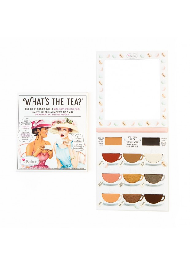 The Balm What's the Tea? Hot Tea Palette палетка теней с праймерами