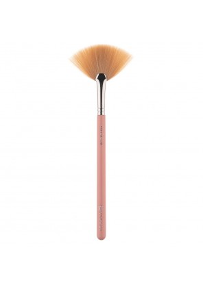 Pink Star Cosmetics Fan Brush Silver L806