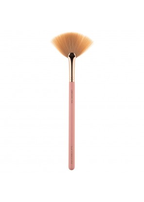 Pink Star Cosmetics Fan Brush Rose Gold L806