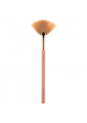 L806 LUXE FAN BRUSH ROSE GOLD кисть для макияжа