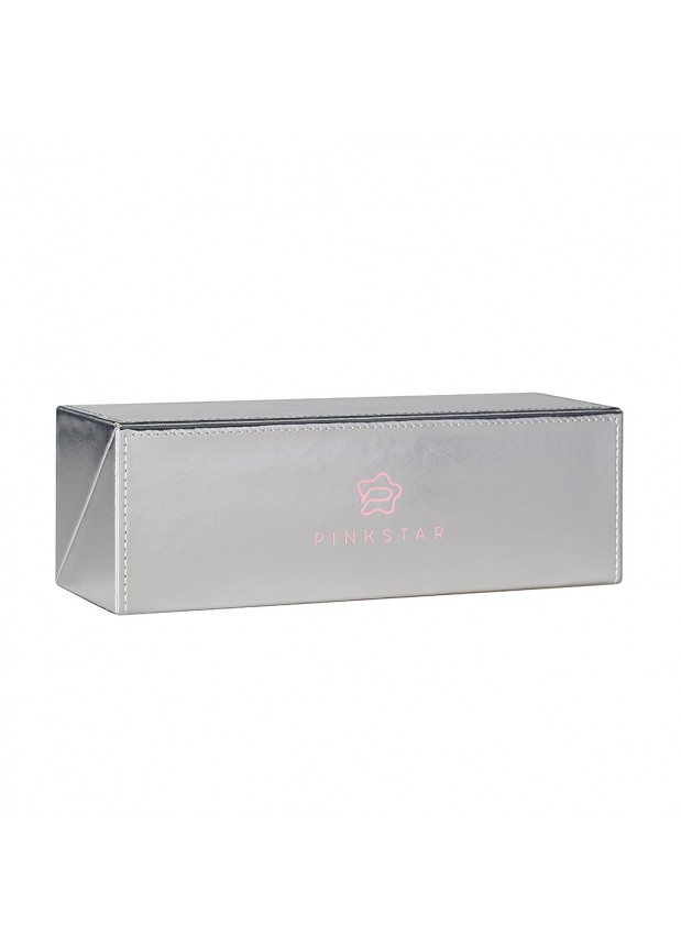 PINK STAR COSMETICS BOX CASE SILVER Футляр для кистей