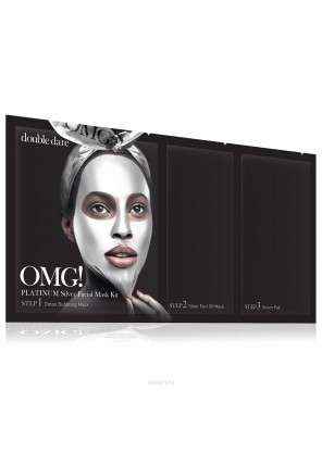 Double Dare OMG! Platinum Silver Facial Mask Kit Маска