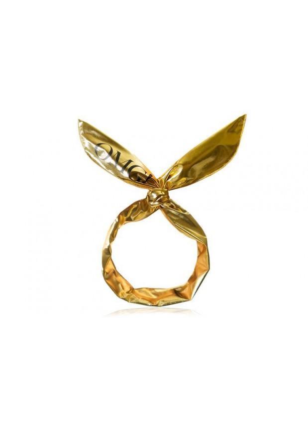 Double Dare OMG! Platinum Hair Band-Gold повязка косметическая для волос золотой