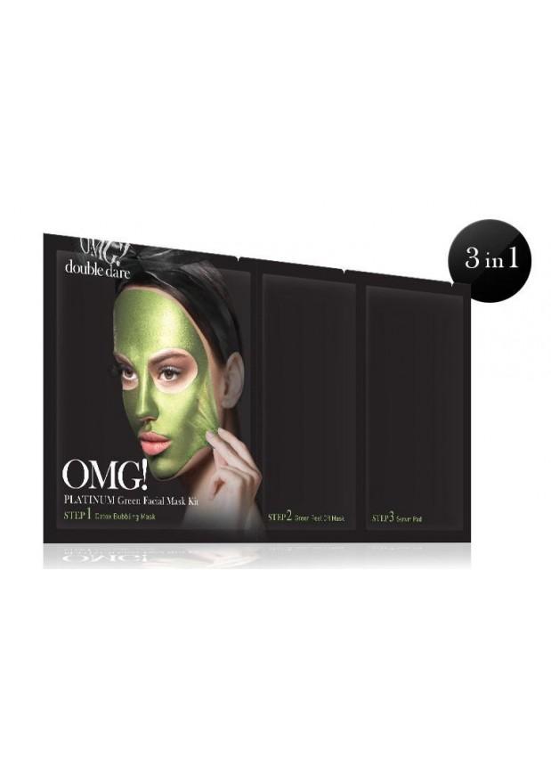 Double Dare OMG! Platinum GREEN Facial Mask Kit